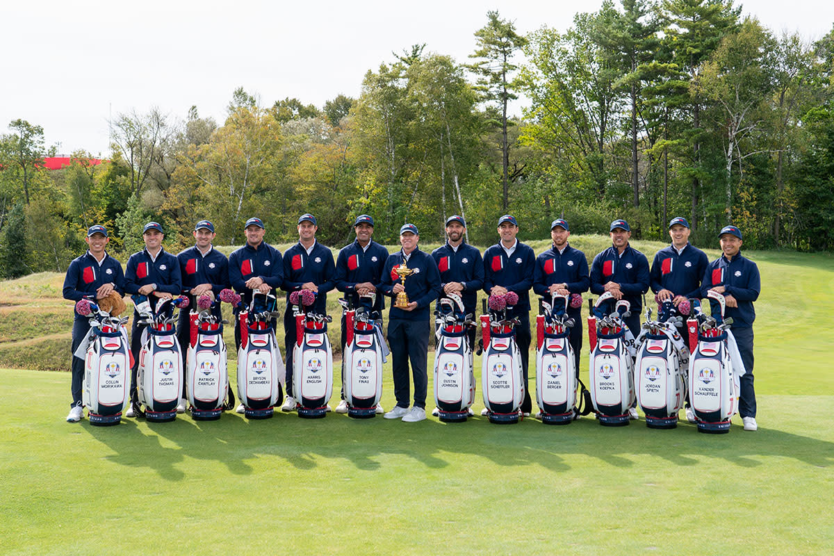 The 2021 American Ryder Cup team.