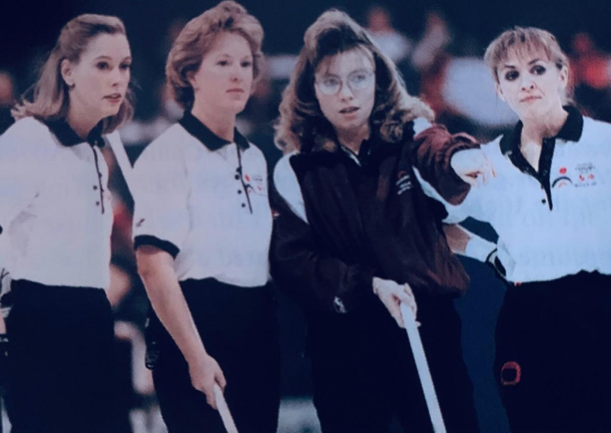 Shannon Kleibrink's big 1997 hair • Michael Burns-Curling Canada