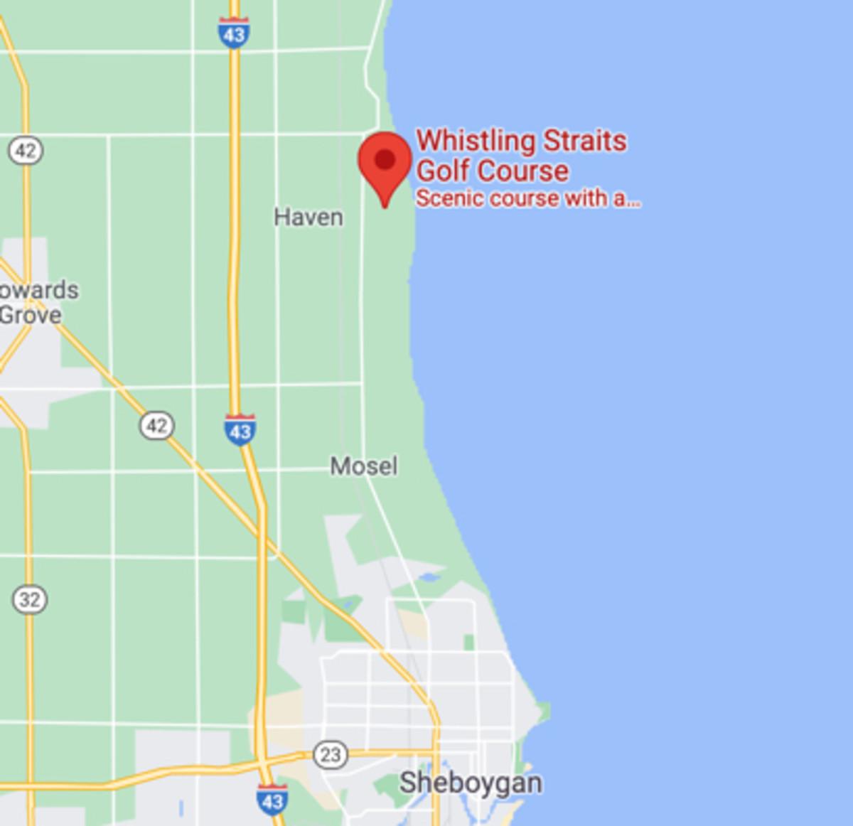 google-map-whistling-straits