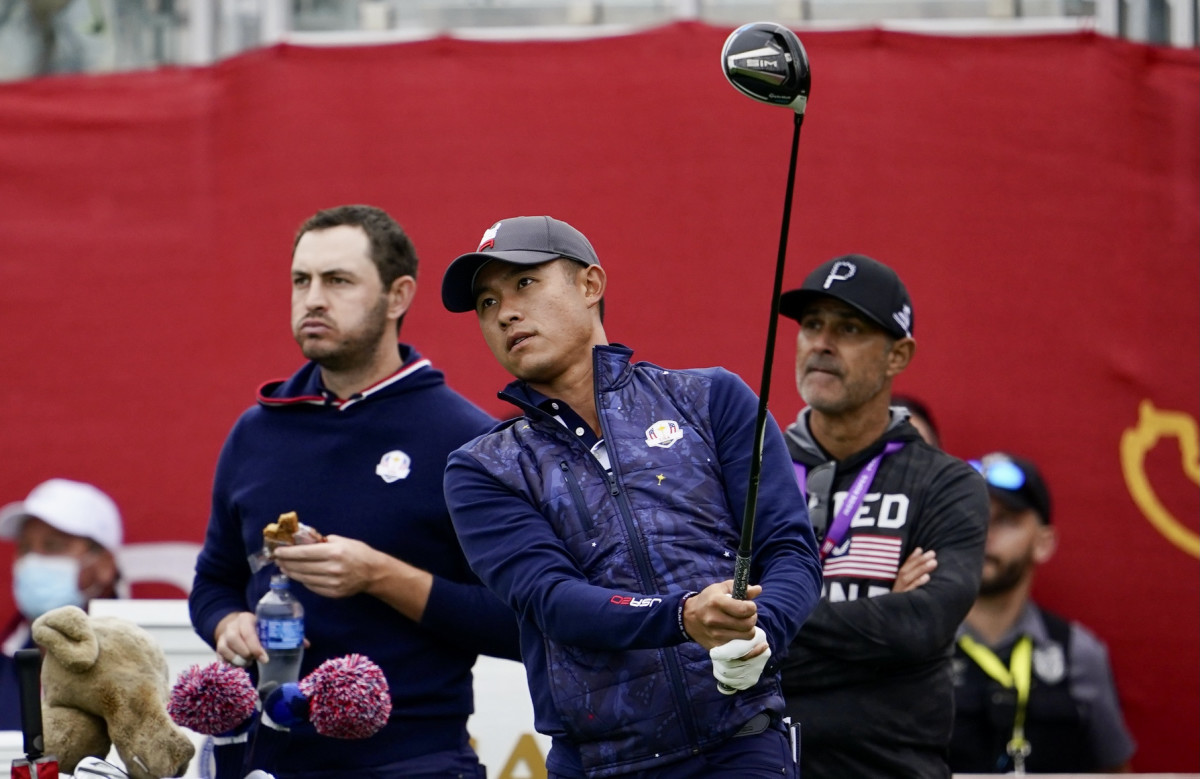 Collin Morikawa during a Ryder Cup practice round