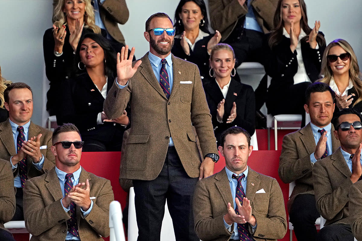 Dustin Johnson at the 2021 Ryder Cup opening ceremonies.