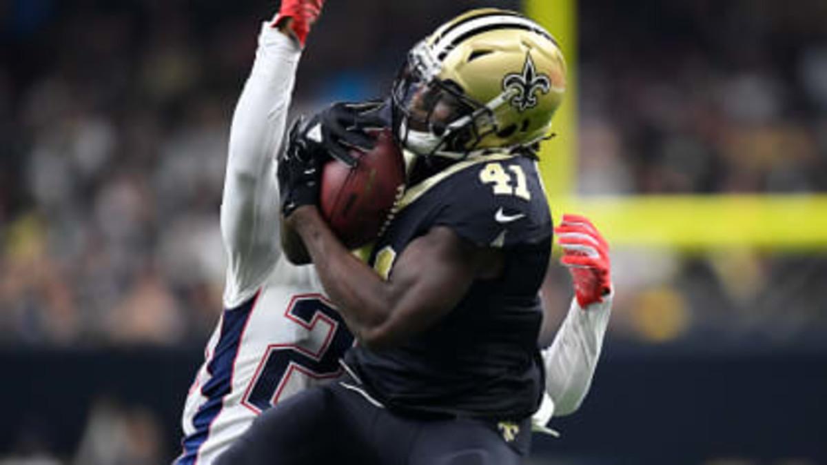 New Orleans Saints running back Alvin Kamara (41). Credit: neworleanssaints.com