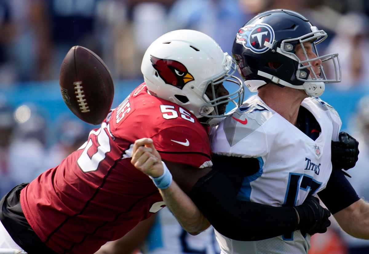 Chandler Jones had five sacks in an unstoppable performance versus the Titans. Can the Jaguars hold him off?Mandatory Credit: Andrew Nelles-USA TODAY Sports