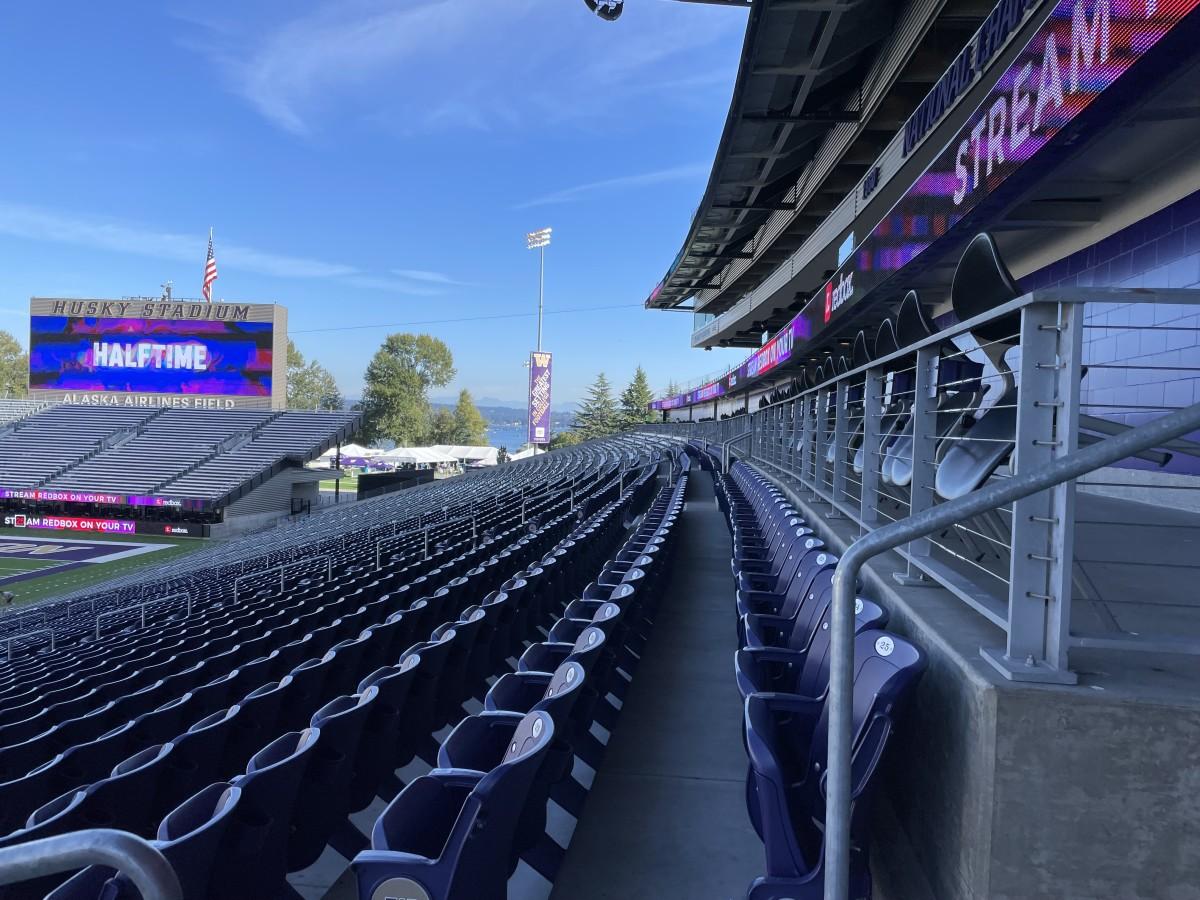 Husky Stadium sits quiet before the Pac-12 opener.