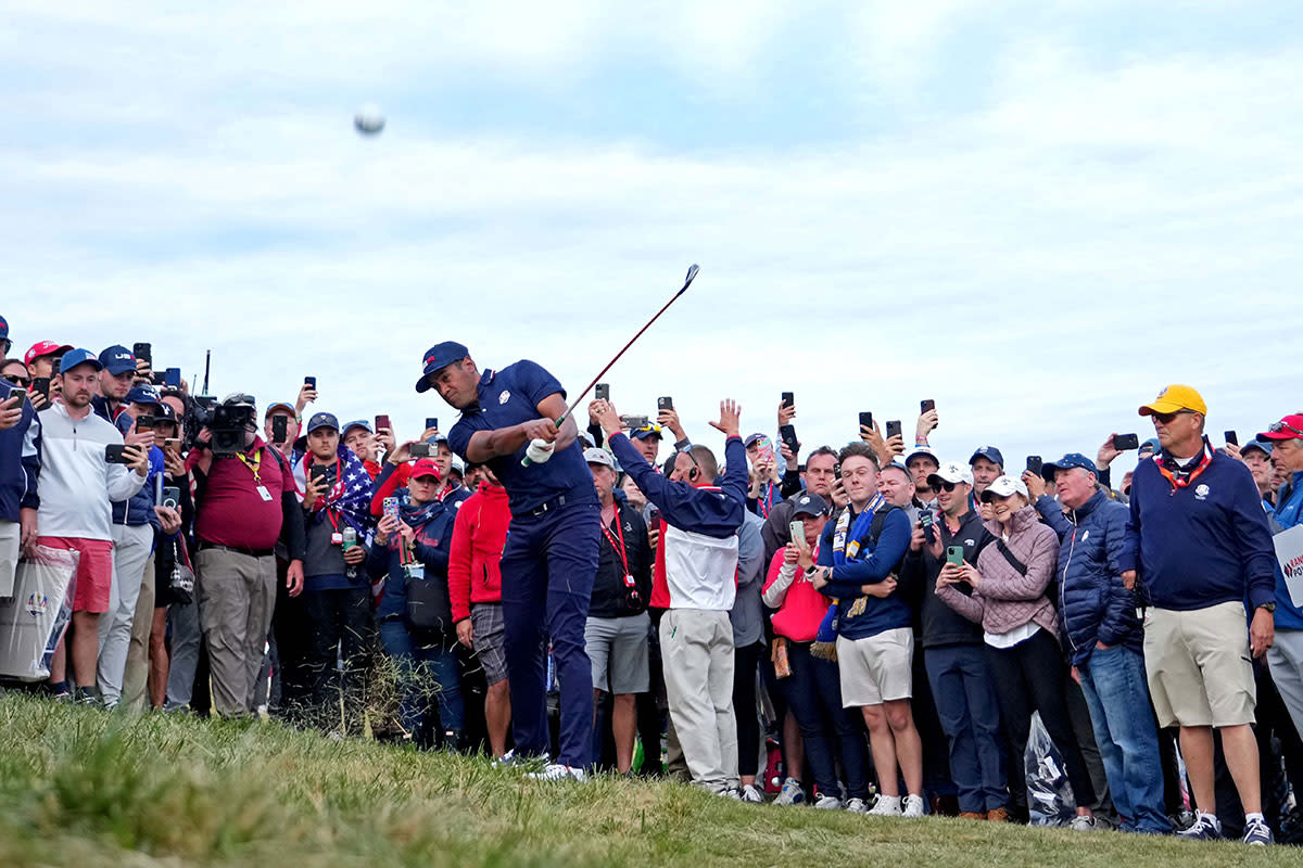 Tony Finau at the 2021 Ryder Cup.