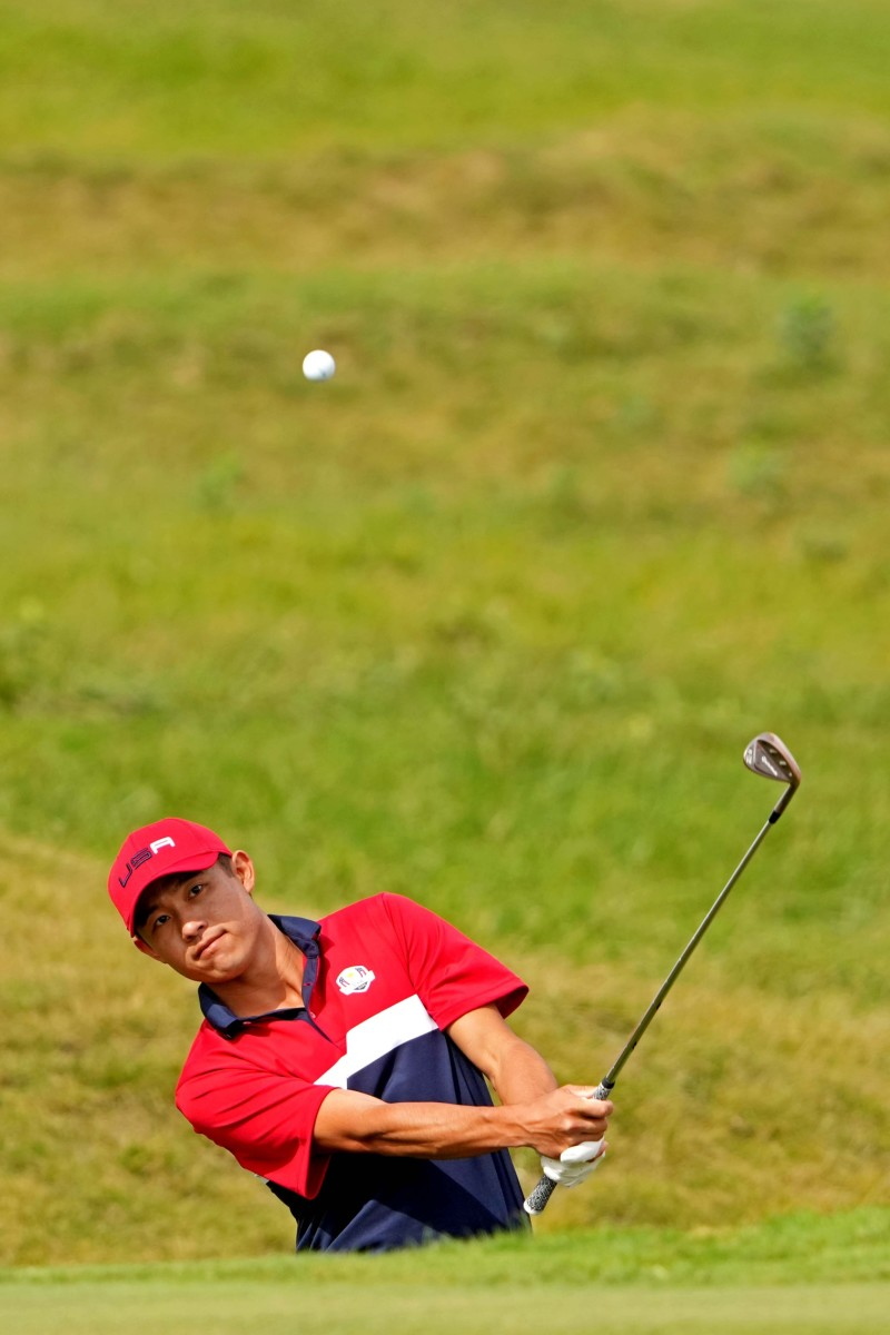 Collin Morikawa on Day 3 of the Ryder Cup