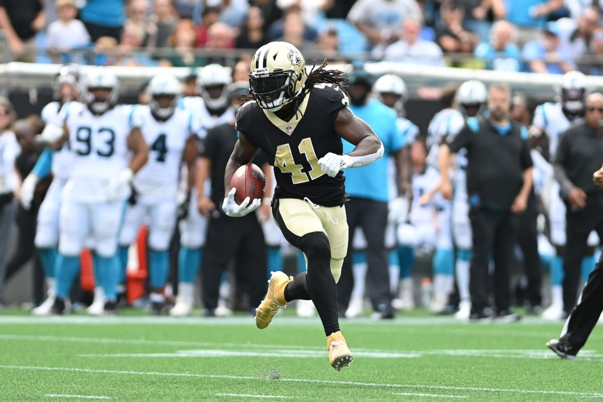New Orleans Saints running back Alvin Kamara (41). Mandatory Credit: Bob Donnan-USA TODAY Sports