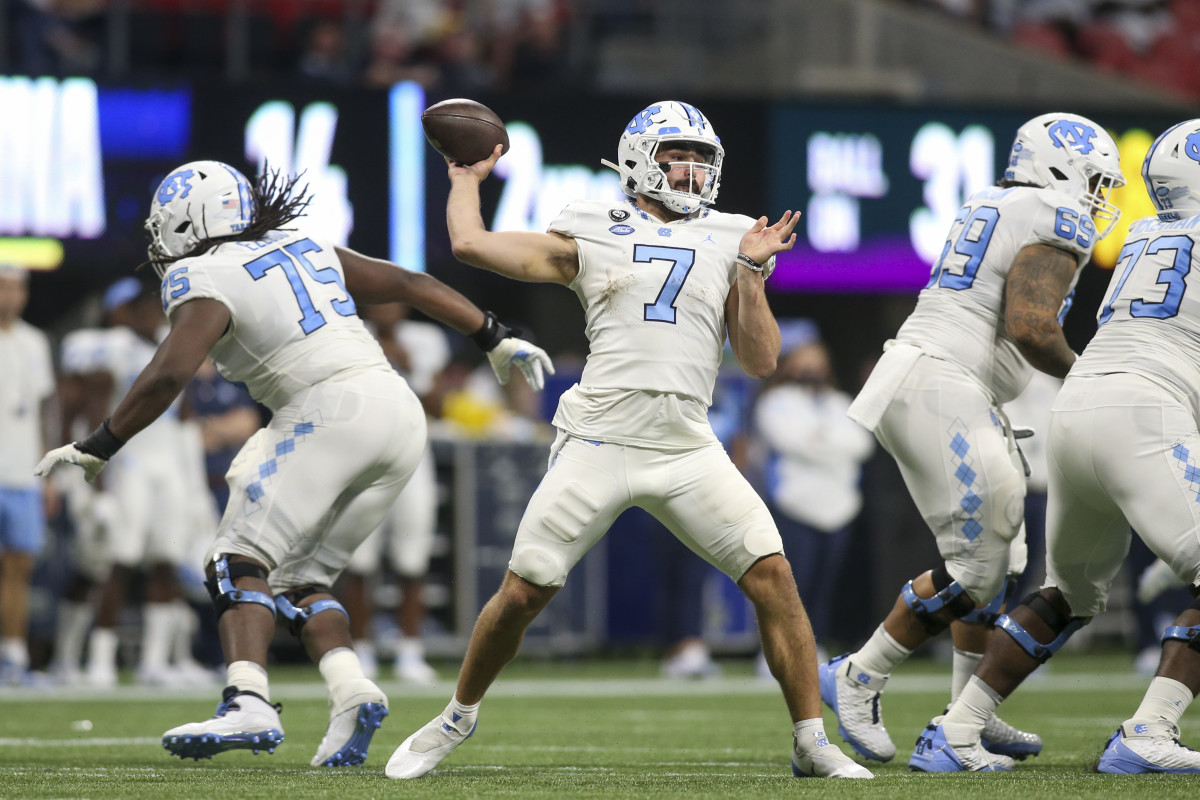 Sam Howell may be the first quarterback to hear his name called in the 2022 NFL Draft.