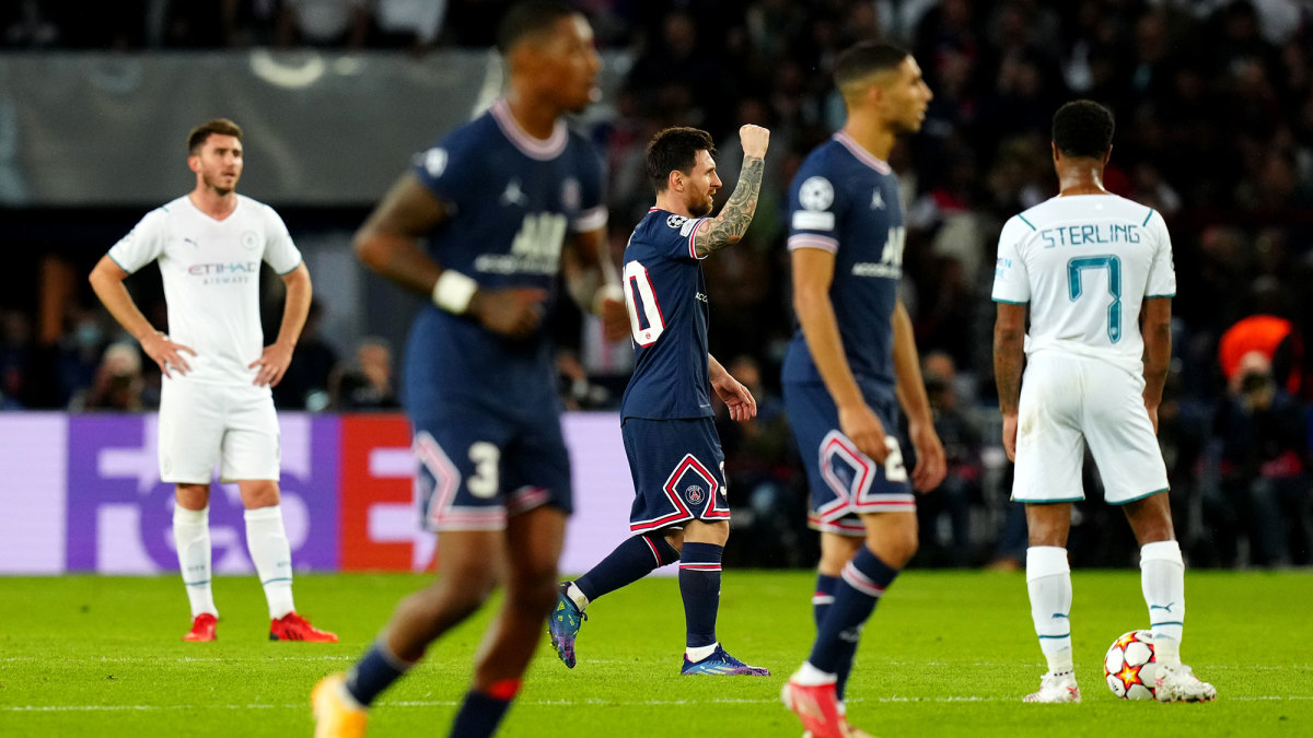Messi and PSG beat Manchester City in Champions League