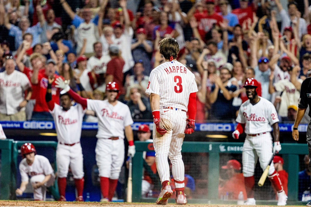 Harper is trying to pull the Phillies into October like those strongmen who pull heavy construction vehicles with their teeth.