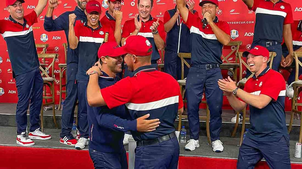 After a summer-long feud, Brooks Koepka and Bryson DeChambeau buried the hatchet at the Ryder Cup.