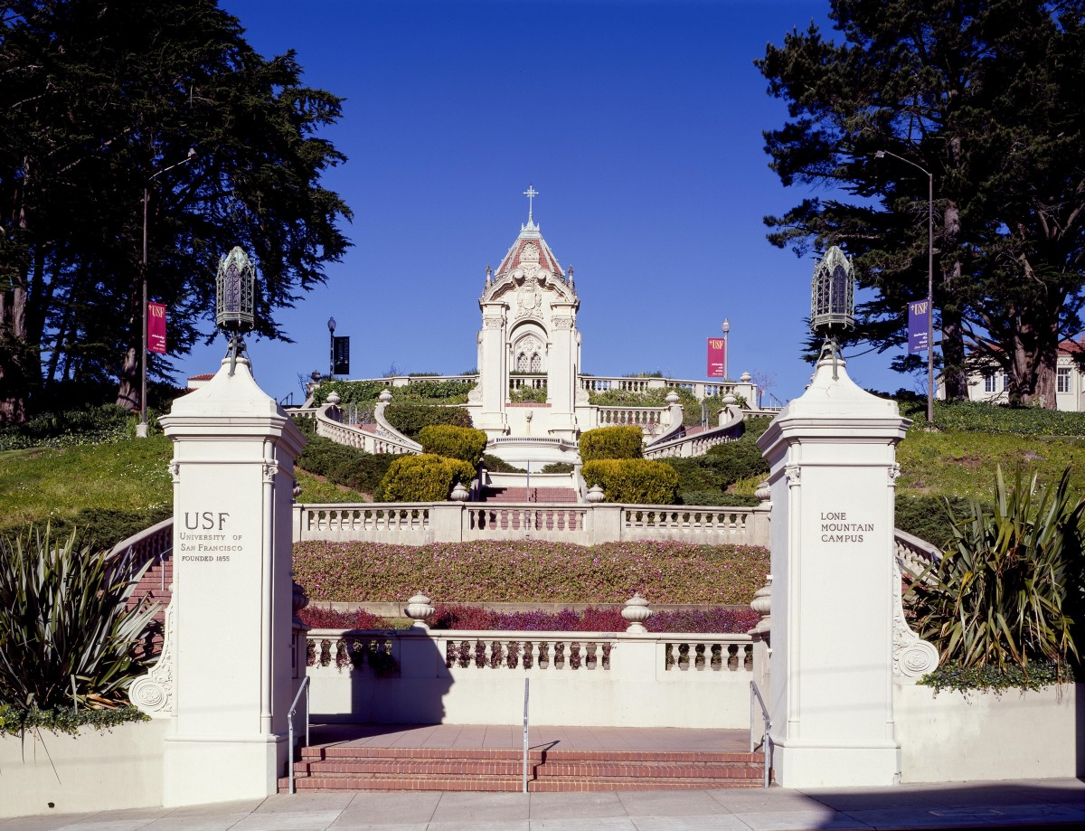 The USF campus is located in downtown San Francisco, beside Golden Gate Park.