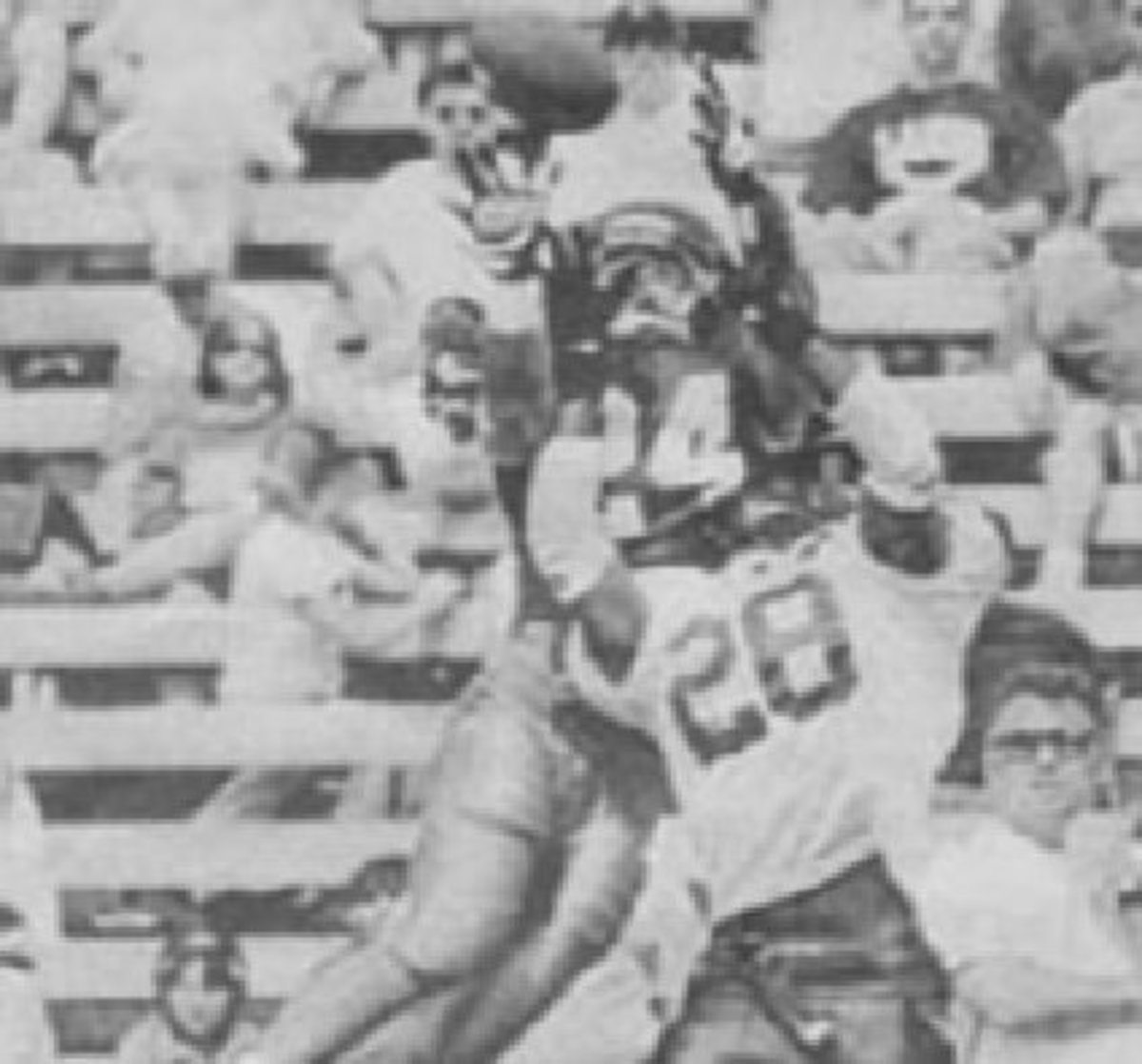 Hakim Weatherspoon, a walk-on safety from Vancouver, Washington, intercepts one in 1997.