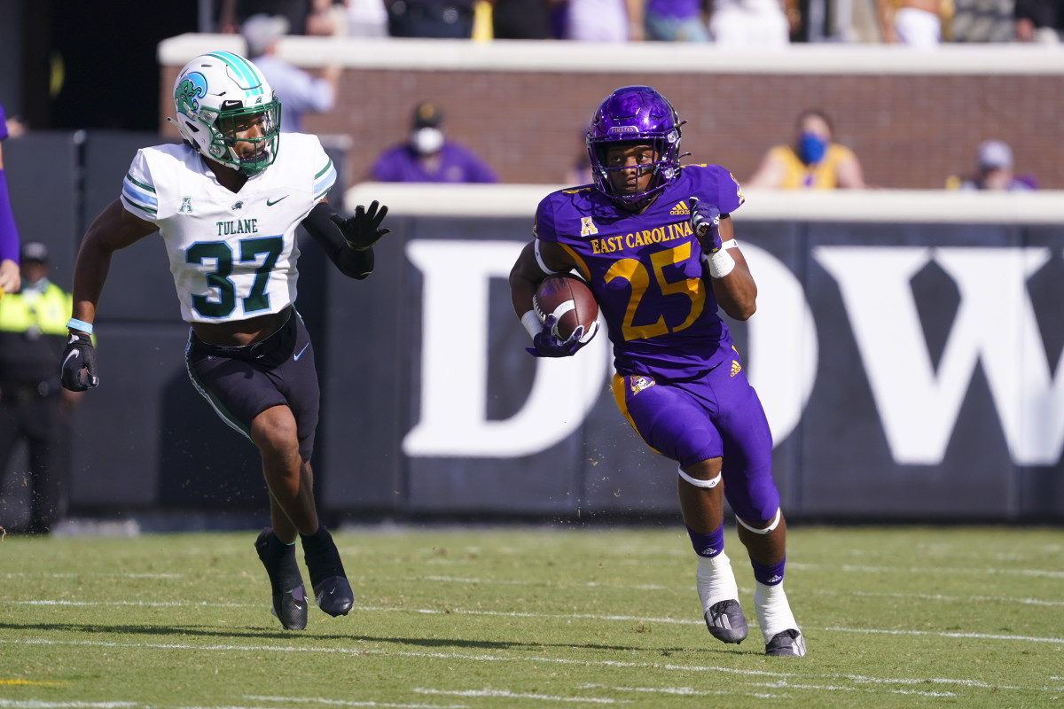 East Carolina running back Keaton Mitchell is one of the nation's most dynamic playmakers.