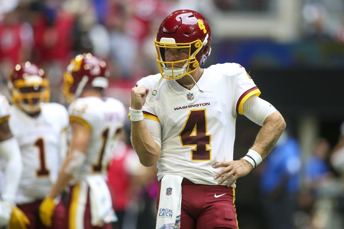 Washington Football Team quarterback Taylor Heinicke (4)