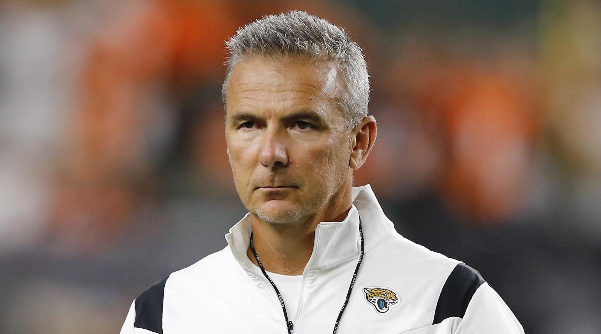Jacksonville Jaguars head coach Urban Meyer before the game against the Cincinnati Bengals at Paul Brown Stadium.