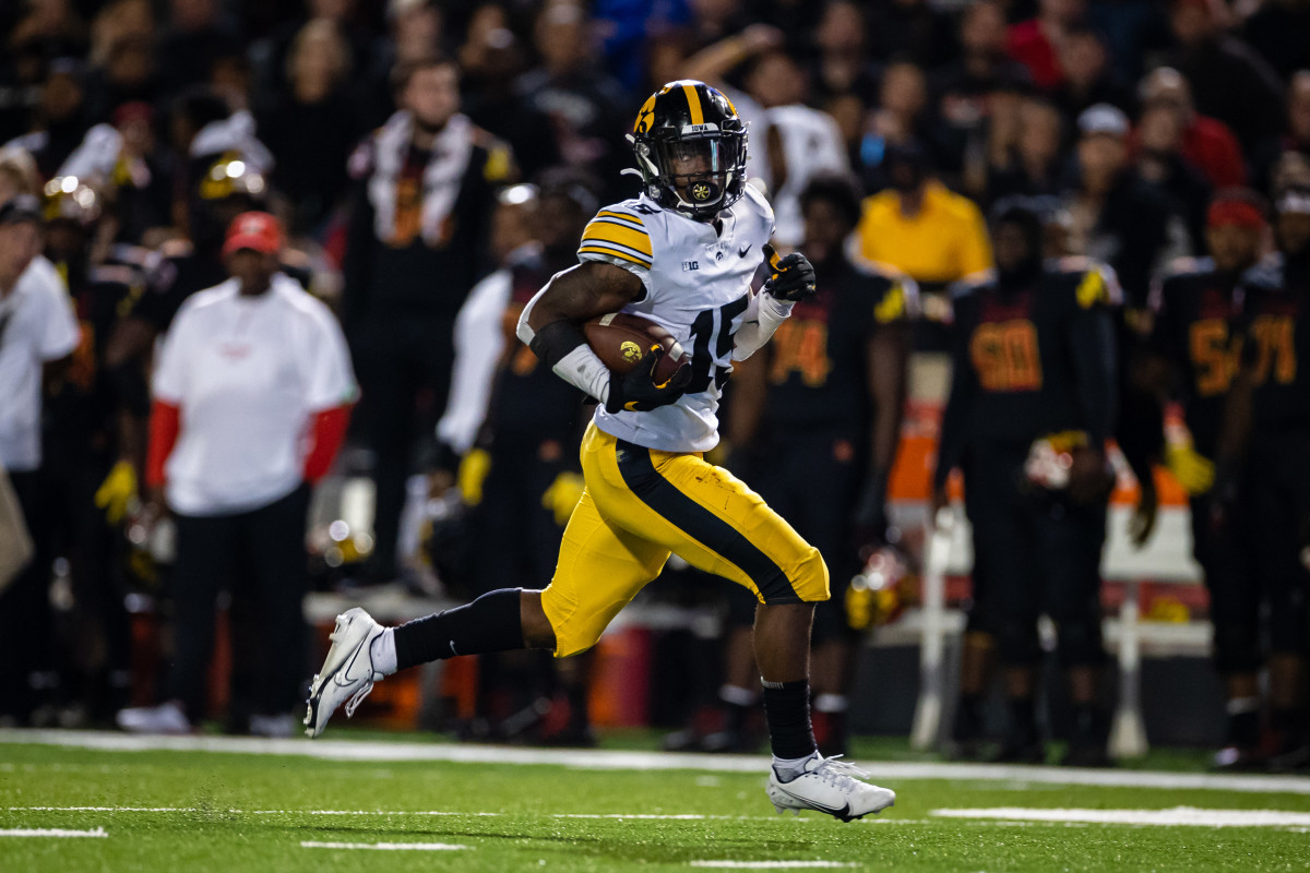 Iowa running back Tyler Goodson has rushed for six touchdowns this season. (Scott Taetsch/USA Today Sports)