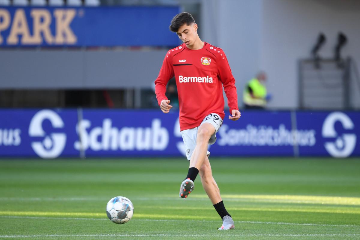 Wirtz has followed in Kai Havertz's footsteps in breaking into the Leverkusen first-team.