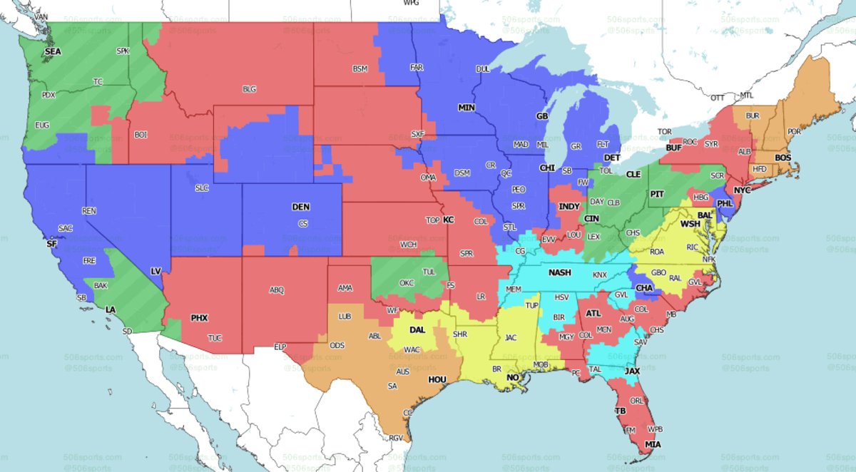 Saints-WFT projected in Yellow.