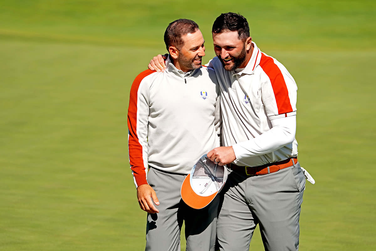 Sergio Garcia and Jon Rahm at the 2021 Ryder Cup.