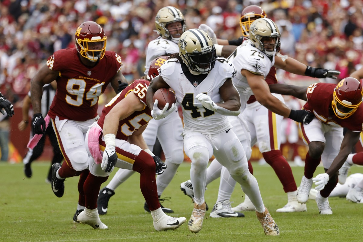 Alvin Kamara had a stellar game for the Saints and was a huge reason why they got the win.