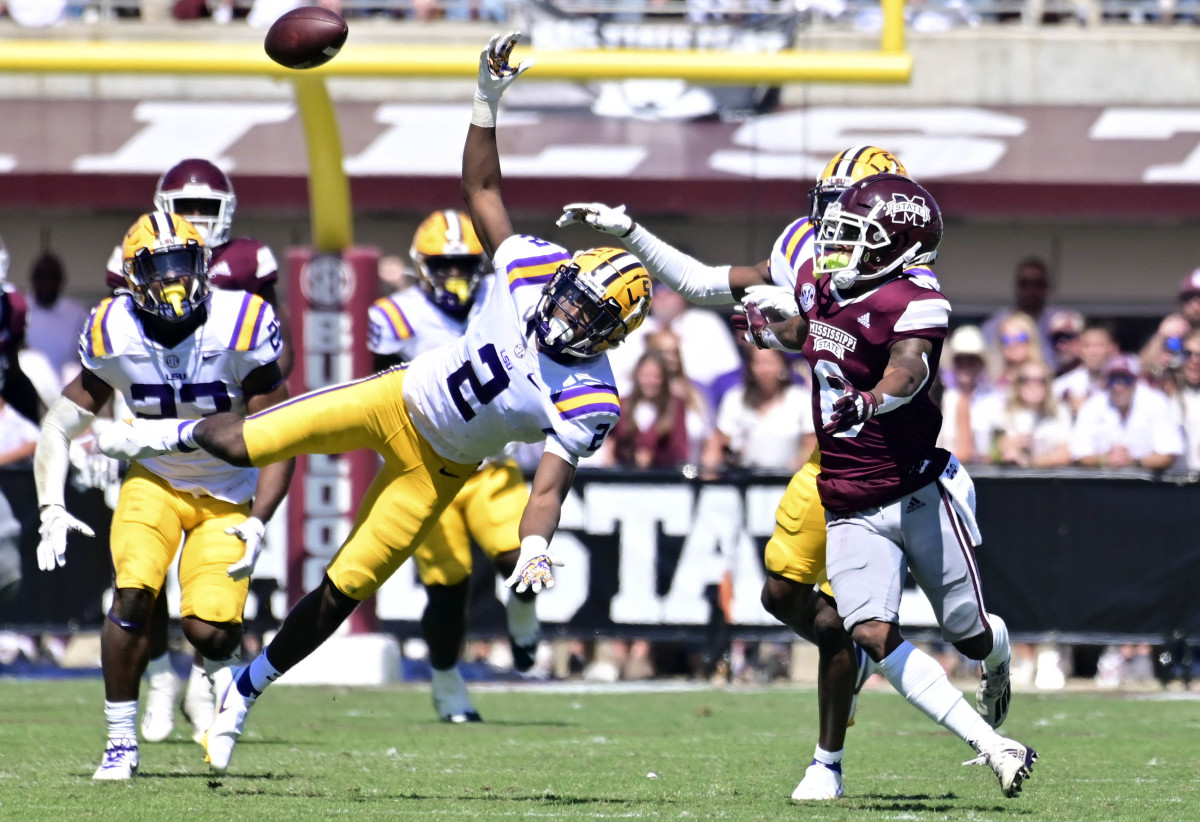 Big XII programs need to find a way to keep talented defensive backs like LSU cornerback Dwight McGlothern home. He's from Houston, Texas.