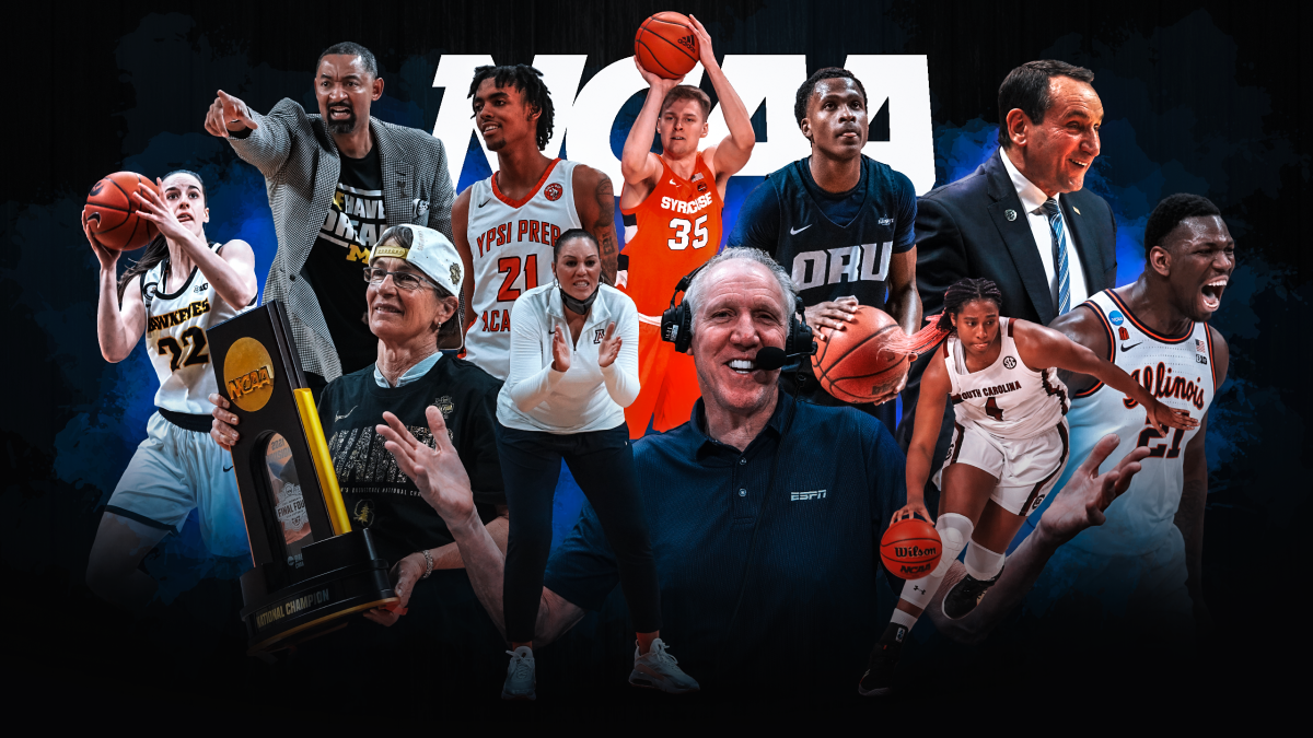 College basketball prominent figures like Bill Walton, Caitlin Clark and Coach K