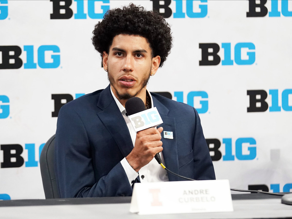 Illinois sophomore Andre Curbelo at Big Ten media days