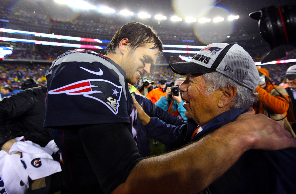 Brady with Kraft during happier times.