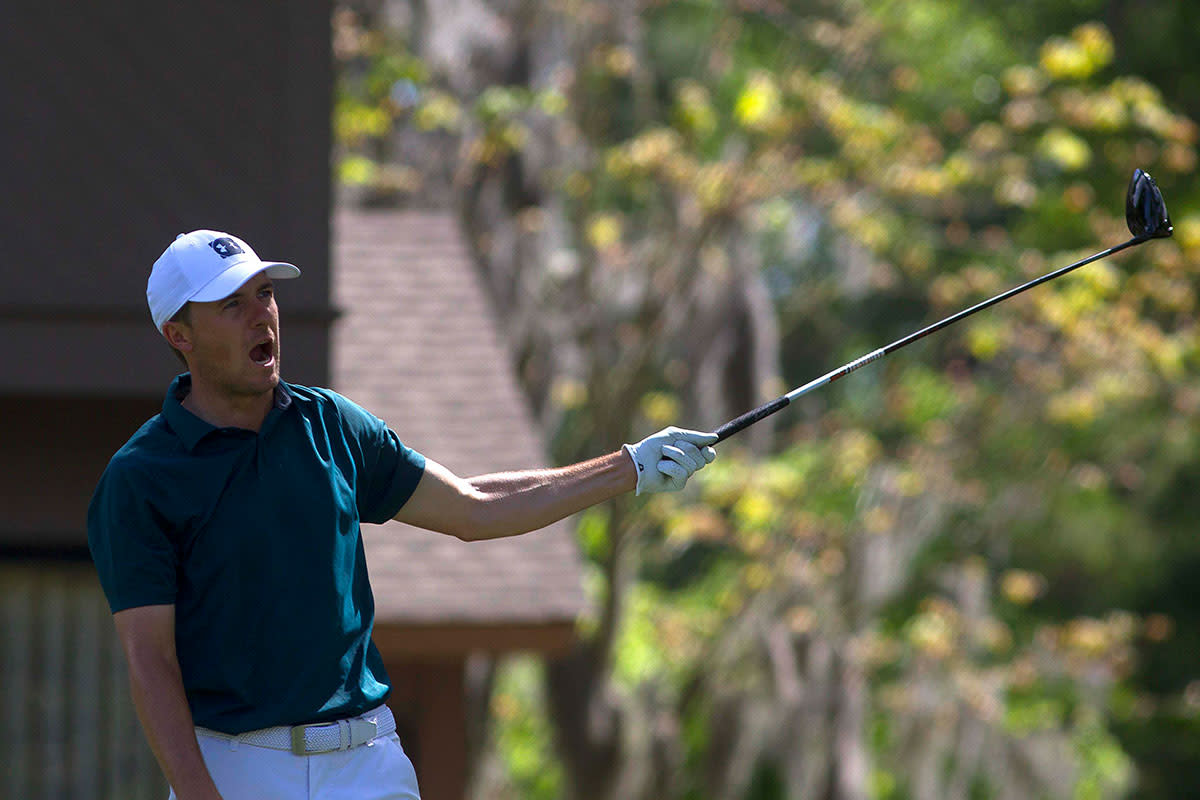 Jordan Spieth plays the 2019 RBC Heritage golf tournament at Harbour Town Golf Links.