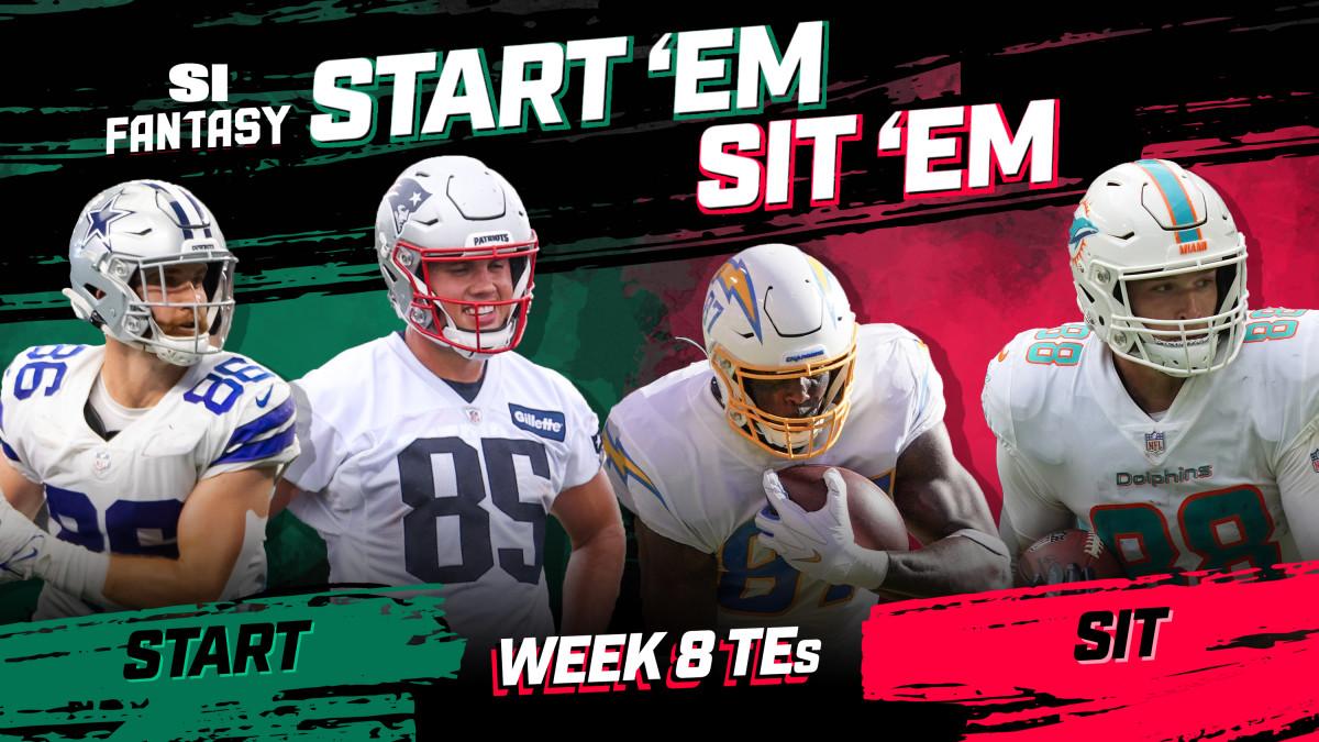 Start 'Em, Sit 'Em Fantasy Football Week 8: Tight Ends