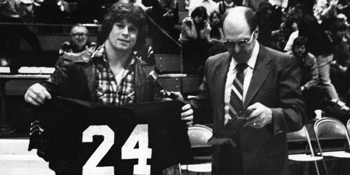 Pat Locker, Jake's uncle, had his number retired at Western Washington.