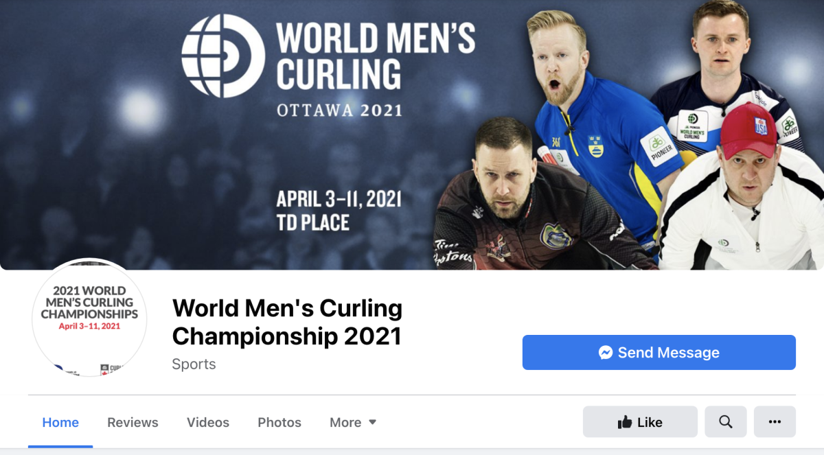 Fake WMCC2021 Facebook page—one of many