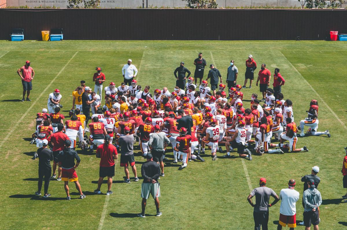 Day Three - USC Spring Camp - (Alex Verdugo/USC Football)