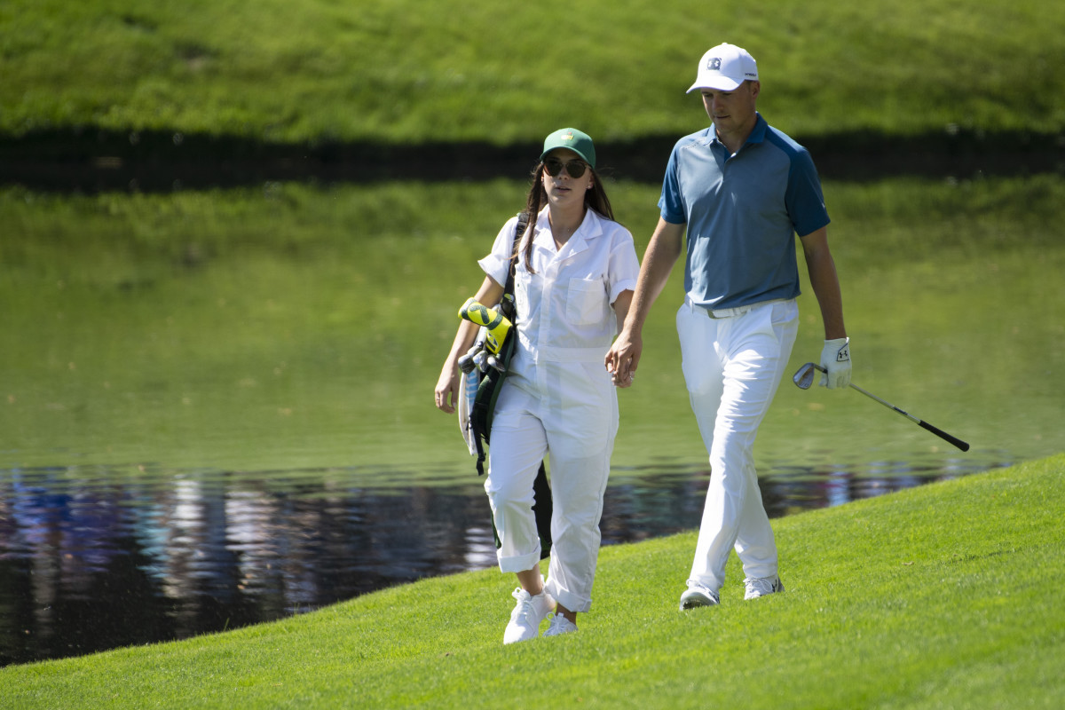 Spieth and his wife, Annie Verret