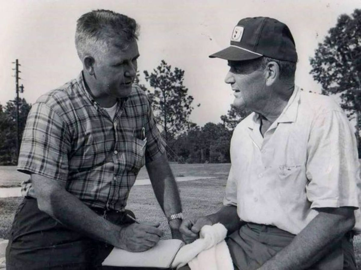"""Bill Lumpkin and Paul W. """"Bear"""" Bryant"""
