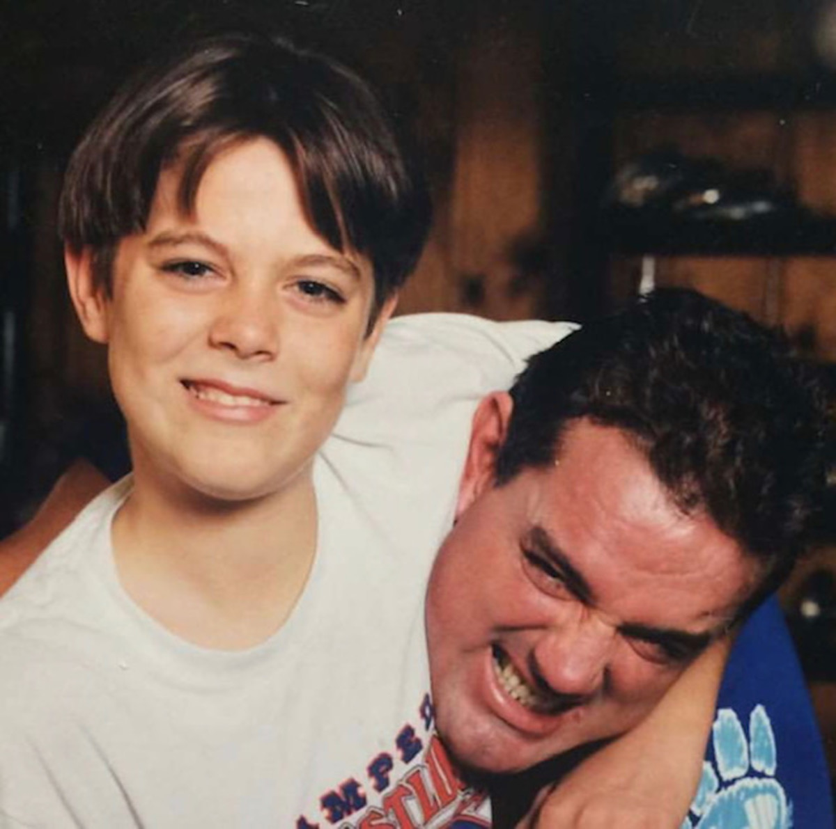 Davey Boy Smith and his son, Harry