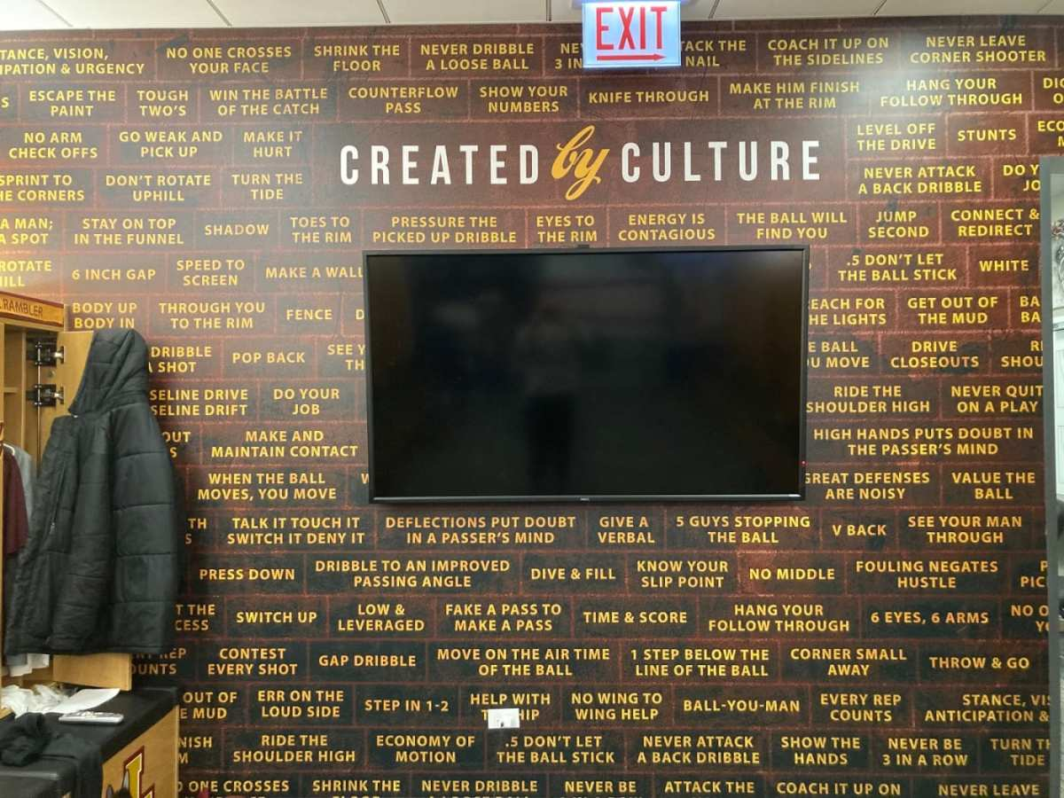 "Porter Moser's ""Culture Wall"" at Loyola Chicago"