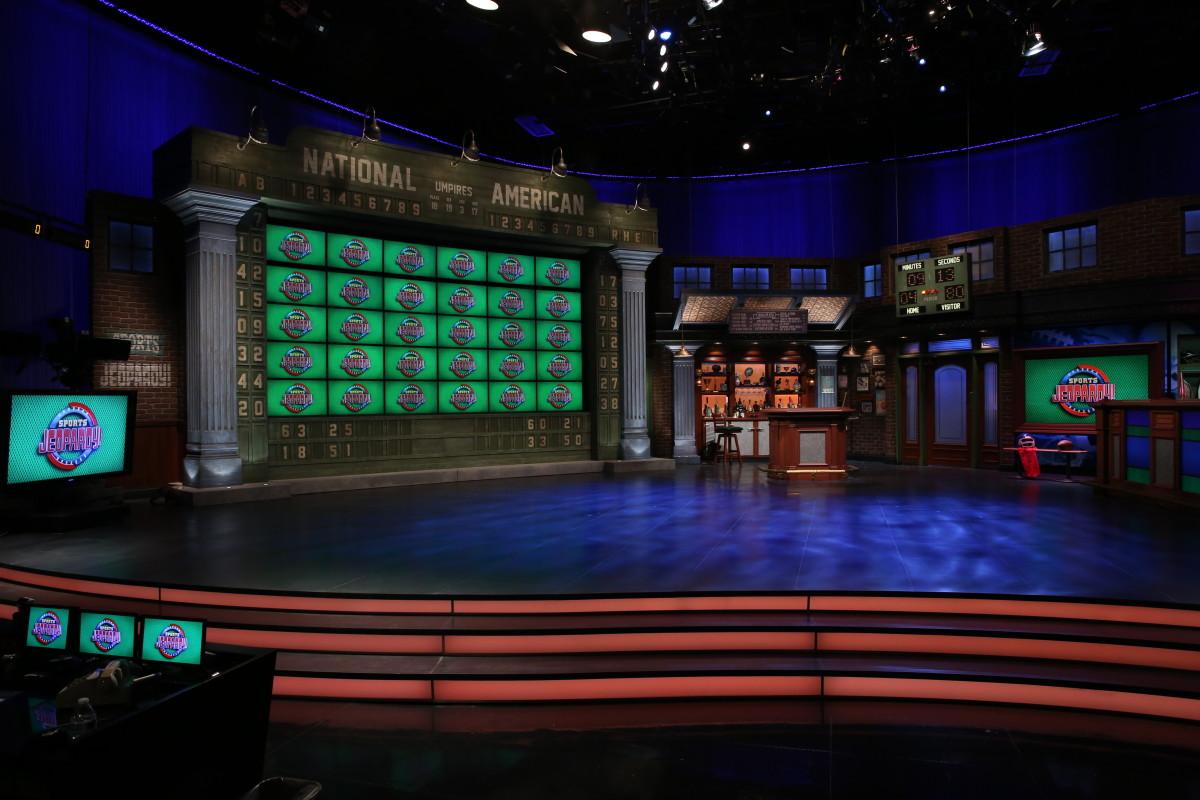 The 'Sports Jeopardy!' set