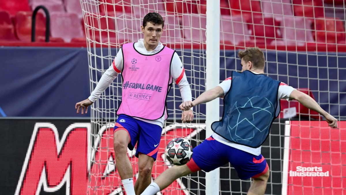 Christensen trained with the squad ahead of the game in Seville.