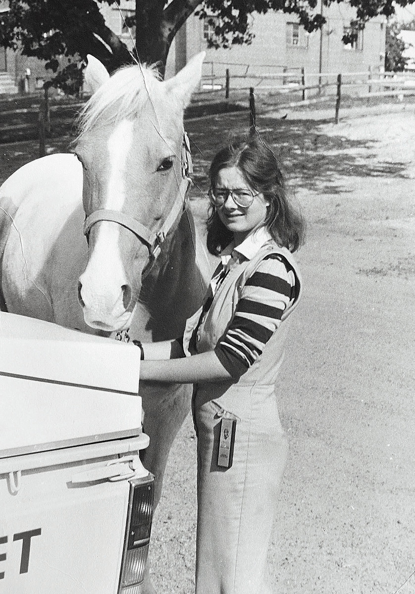 Runkle was the only female vet at the Derby in 1981.