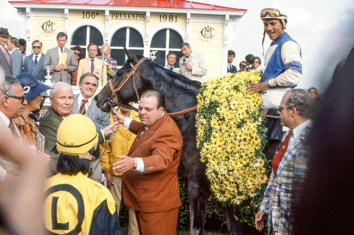 Campo (center), Evans (sharing the reins, in olive) and Velásquez (atop Pleasant Colony at the Preakness) each offered a tabloid-teasing backstory.