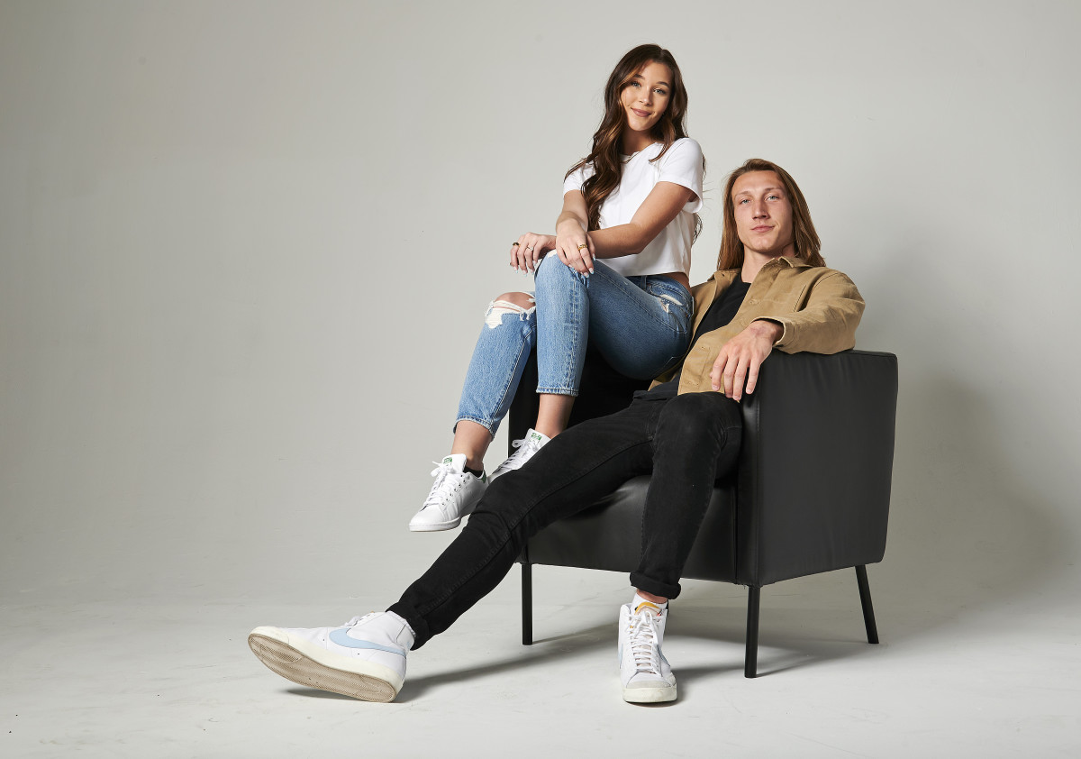Trevor Lawrence and wife Marissa Mowry