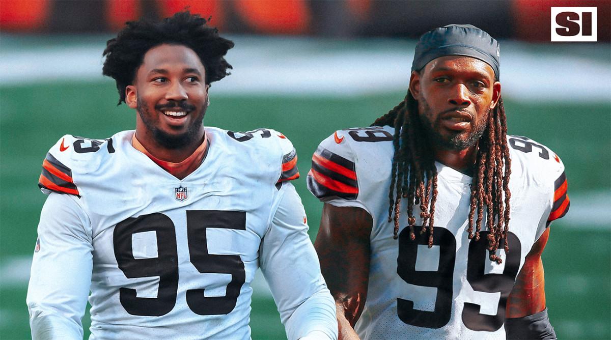 Jadeveon Clowney and Myles Garrett with the Browns