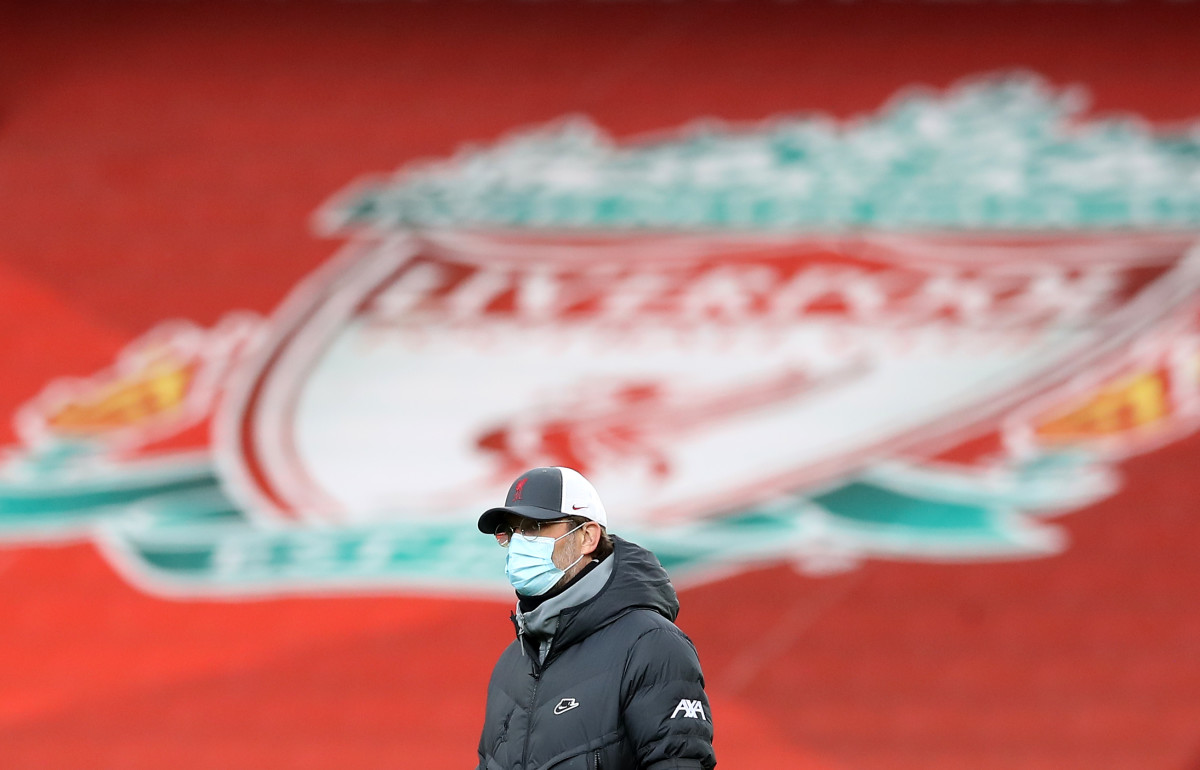 4/10/2021 - Liverpool manager Jurgen Klopp inspects the pitch before the Premier League match at Anfield, Liverpool. Picture date: Saturday April 10, 2021. (Photo by PA Images/Sipa USA)