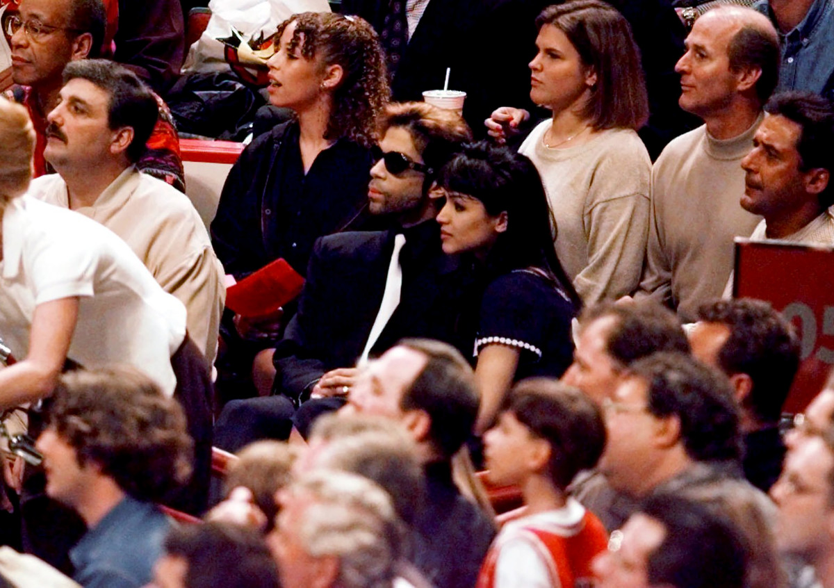 Prince's birthday treat to himself in 1996: seats at Game 2 of the NBA Finals in Chicago, where the Bulls beat the Sonics, 92-88.