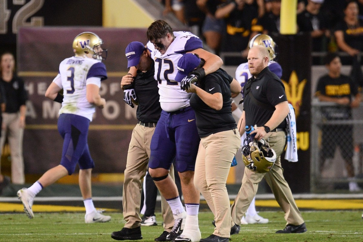 Trey Adams' career started to unravel with this injury at ASU in 2018.