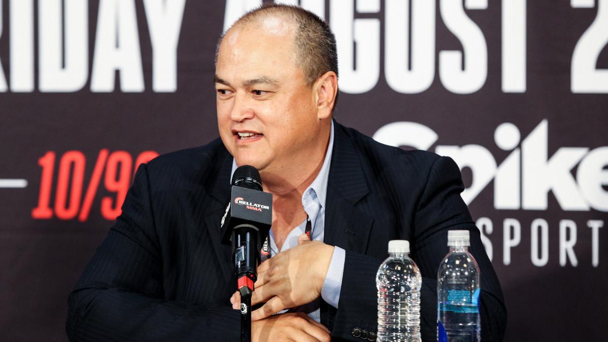 Bellator CEO Scott Coker at a press conference