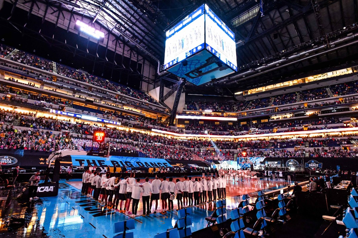 The scene prior to the men's national championship game