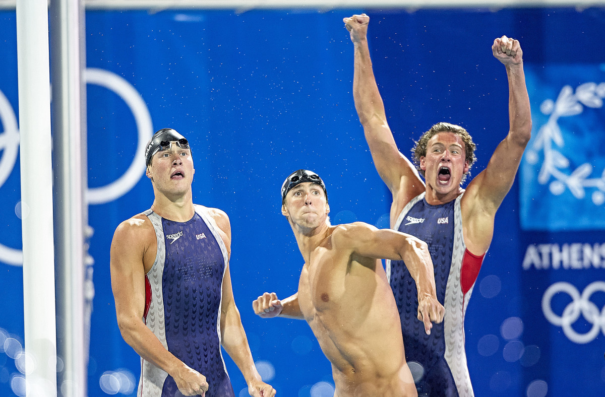 Phelps (center) and Lochte have clashing personalities, but have grown closer as Lochte chases redemption.